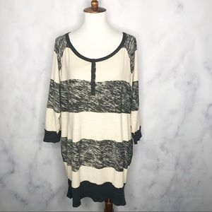 Free People We the Free Striped Rugby Oversize Tee